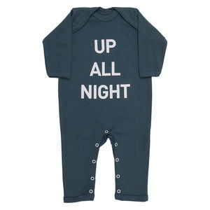 Up All Night Baby Grow / All In One - babygrows