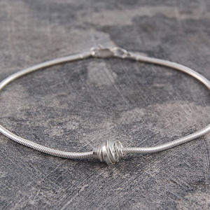 Coil Sterling Silver Charm Bracelet - bracelets & bangles