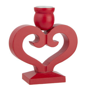 Red Heart Candle Holder - christmas decorations sale