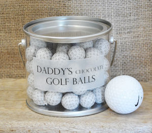 Personalised Bucket Of Chocolate Golf Balls - sweet treats
