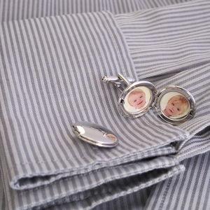 Stylish Vintage Photo Locket Cufflinks - men's sale