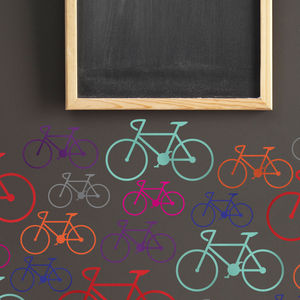 Bike Wall Stickers - children's room accessories