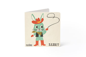 A To Z Greeting Card: Rodeo Rabbit