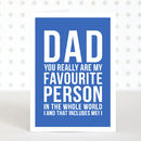 'Favourite Dad' Funny Father's Day Card