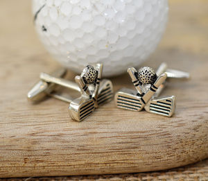 Golf Club And Ball Cufflinks - sport-lover