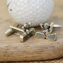 Golf Club And Ball Cufflinks