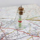 Personalised Map In A Bottle Pendant