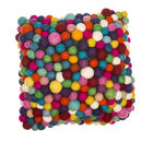 Handmade Felt Multicoloured Ball Cushion