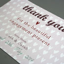 Personalised Engagement Or Wedding Thank You Card