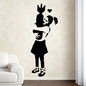 Banksy Love Bomb Wall Sticker