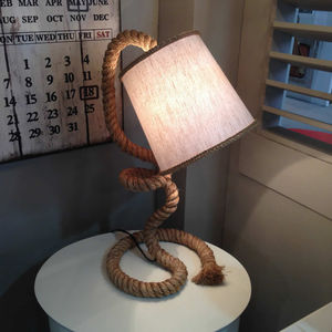 Rope Task Table Lamp Natural Shade - table & floor lamps