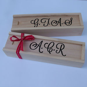 Personalised Wooden Pencil Case - home & garden gifts
