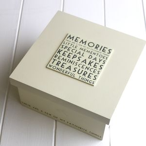 Memories Keepsake Box - storage & organisers