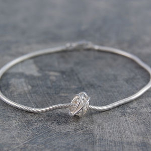 Charm Nest Sterling Silver Friendship Bracelet