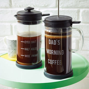 Personalised 'Morning Coffee' Cafetiere