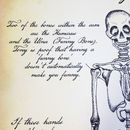 Bespoke Skeleton Anatomy Print - Parchment background