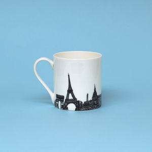 Paris Skyline Mug - mugs