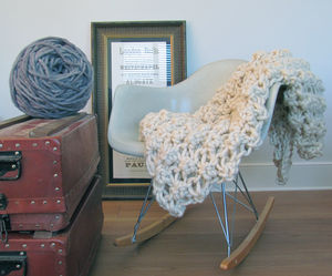 Knit Kit For Hugo Chunky Knit Blanket 135cm X 90cm