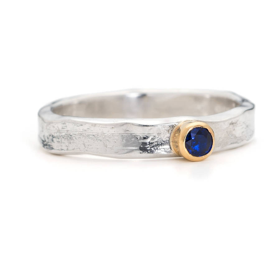 designer sapphire silver and gold ring by alison moore designs ...