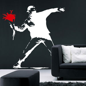 Banksy Flower Bomb Wall Sticker