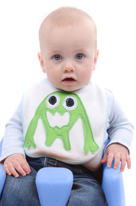 Cute Handcrafted Monster Bib