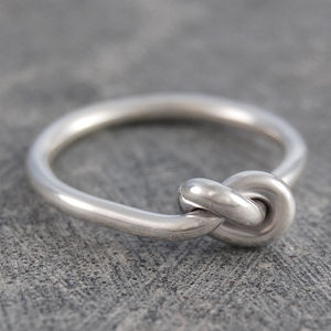 Knot Sterling Silver Ring - rings
