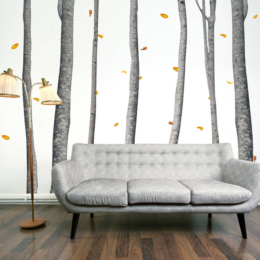 wall decals silver tree color the walls of your house wall decals silver tree autumn scene silver birch tree wall stickers by the binary box