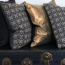 Gold, Velvet And Embroidered Cushions