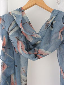 Personalised Dragonfly Scarf - scarves