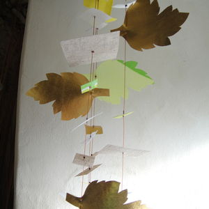 Green And Gold Leaf Garland - room decorations