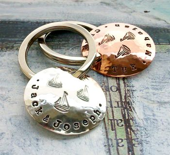 Personalised Family Name Sailing Key Ring