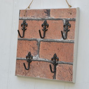 Brick Effect Key Holder