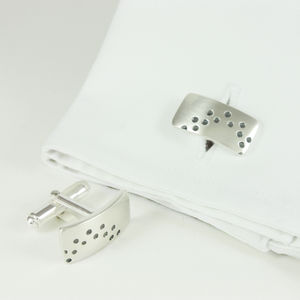 Silver Allium Cufflinks
