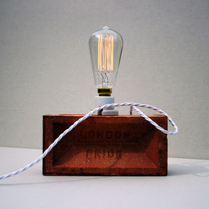 Edison London Brick Lamp - lighting