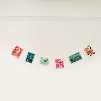 Vintage Inspired Postage Stamps Bunting