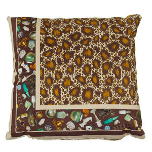 Jenny Collicott Leopard Cushion