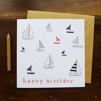 Birthday Boats Card
