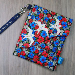 Purse/Phone/Camera Case Three Pockets Birds - bags & purses