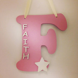 Wooden Wall Letters With Name - baby's room