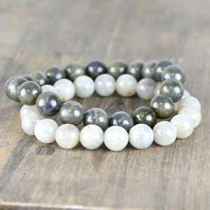 Handmade Men's Labradorite Beaded Bracelet - men's jewellery