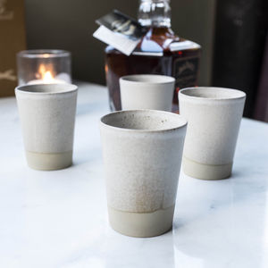 Stoneware Whisky Cup - crockery & chinaware