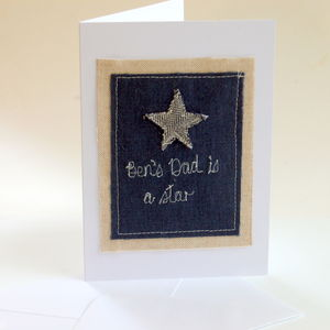 Personalised Dad Is A Star Card