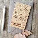 Wooden Star Constellations Message Card