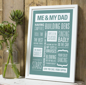 Personalised Memories Print - gifts for families