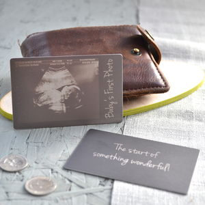 Baby Scan Wallet Keepsake Card - 100 less ordinary gift ideas