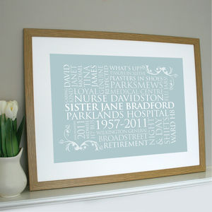 Personalised Word Art For One Print - paintings & canvases