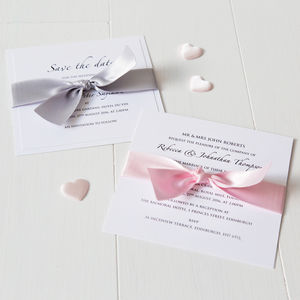 Classic Wedding Invitation - order of service & programs