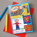 Fathers Day Superhero Activity Card