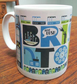Bristol City Typographic Mug