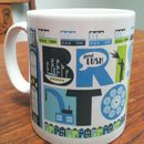 Bristol City Typographic Mug